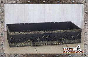 Ящик для мангала с поддоном декор.