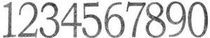 Декоративный элемент «Цифра» арт. 20515