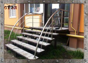 Перила нерж. и лестница  (2016год)