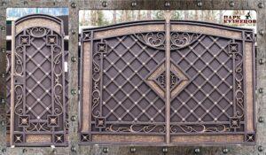 Ворота с калиткой арт. 2019-96