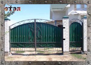Ворота с калиткой (2017год)